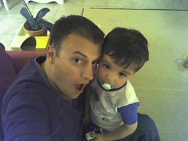 Picture of Jason Shellen with his son.  It's funny 'cause it's true. :)